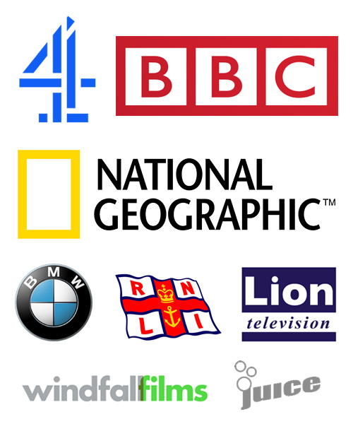 Credit logo, BMW, BBC, Channel4, National Geographic